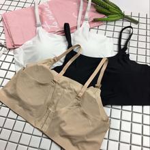 夏季新品女装chic韩版修身显瘦内搭无痕裹胸小吊带背心防走光学生