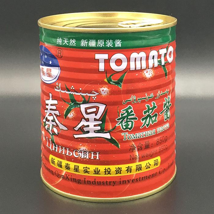 新疆特产纯天然原装番茄酱汁秦星850g炒菜无添加烘焙披萨面酱包邮