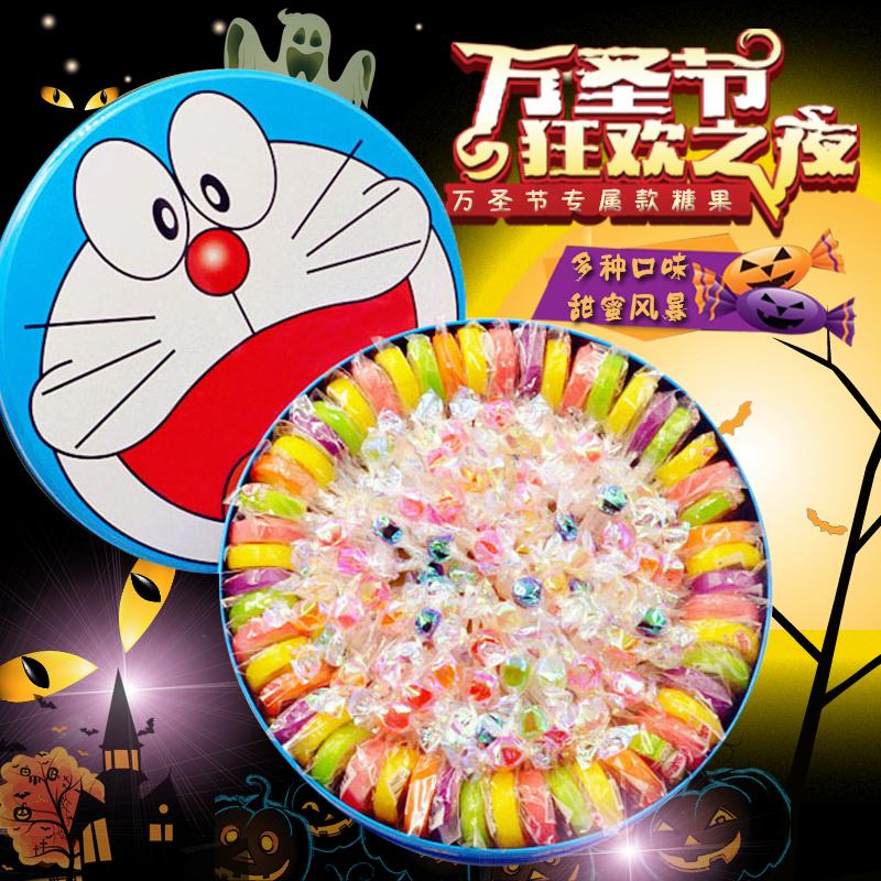 糖果礼盒装手工水果切片棒棒糖千纸鹤硬糖 女生日儿童万圣节礼物