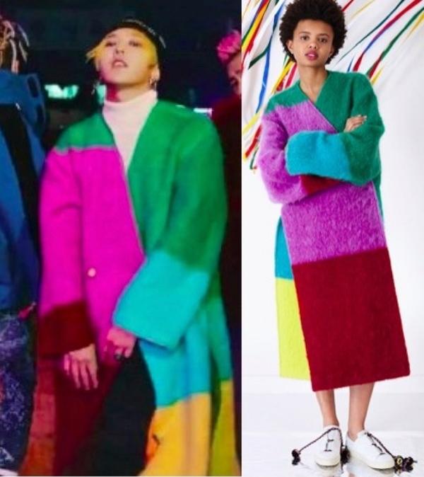 Bigbang新专辑fxxk it 权志龙GD同款拼色大衣 男女休闲风衣外套潮