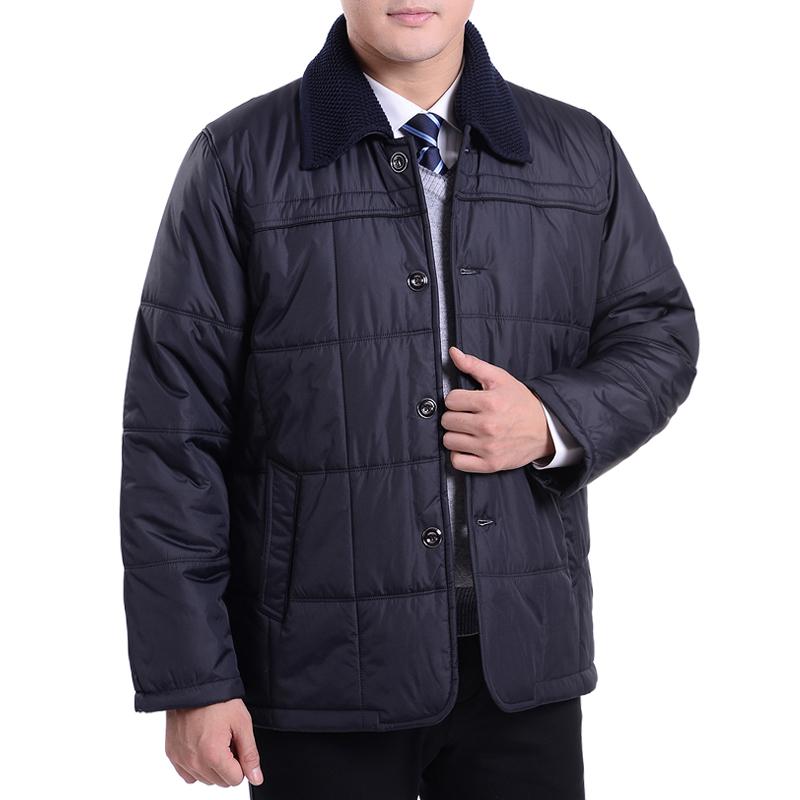 男装外套中年棉衣冬装男士棉袄胖子爸爸中老年加大