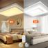 大气正长方形led吸顶灯客厅灯具遥控创意铁艺术简约现代卧室灯饰