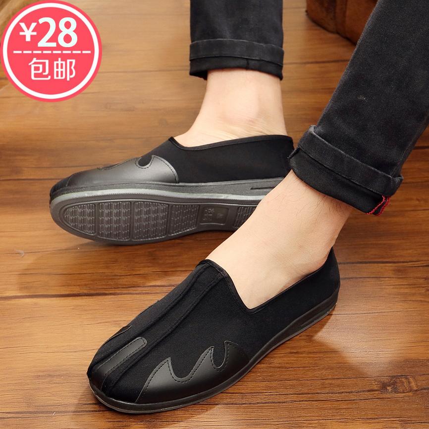 流行中国风洒鞋男青年老北京布鞋男鞋传统老头鞋休闲开车鞋功夫鞋