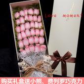 西安鲜花花店同城速递红玫瑰康乃馨百合生日祝福表白鲜花礼盒配送