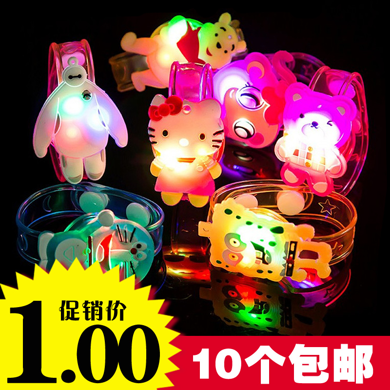 创意夜市手表闪光圣诞节发光手环儿童礼物货源小玩具批发地摊热卖图片