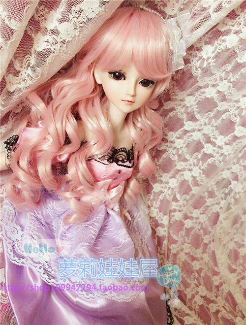 叶罗丽bjd/sd娃娃头发发网三分/60cm换装高温丝直发包邮娃娃假发图片