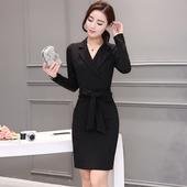 职业大码 连衣裙 气质包臀一步裙显瘦中长款 春夏装 女装 时尚 天天特价
