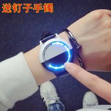 LED动漫简约创意个性智能触屏 防水发光夜光男女情侣学生手表