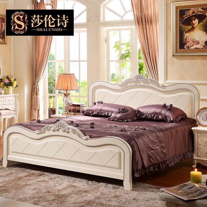 欧式公主床法式实木韩式田园床单人双人大床1.8米1.5婚床现代简约