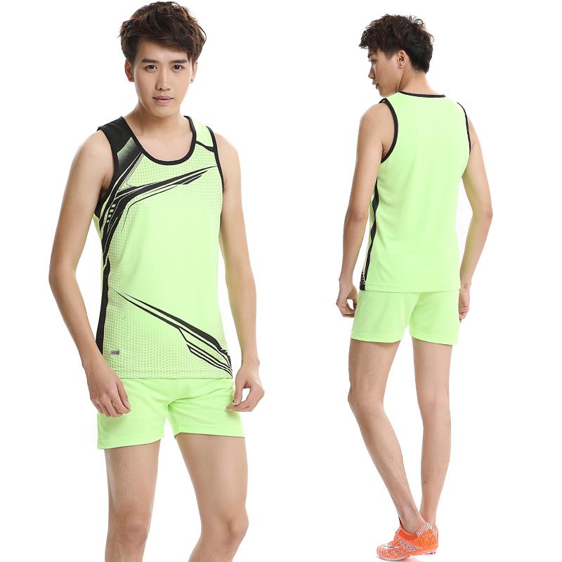 田径服男女款训练服套装马拉松长跑步服定制短裤背心比赛服运动服