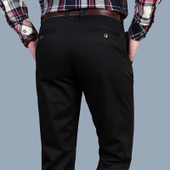 男装长裤NIAN JEEP休闲裤男士秋冬季商务直筒宽松西裤纯棉男裤子