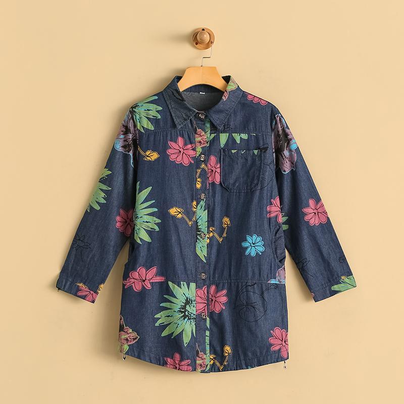 2017秋季新款女士休闲衬衫上衣中老年九分袖秋装衬衫 NW-702753