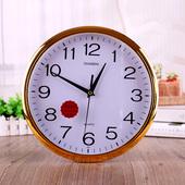 常胜9..10.12英寸915卧室客厅办公静音时钟挂钟简约创意石英钟表