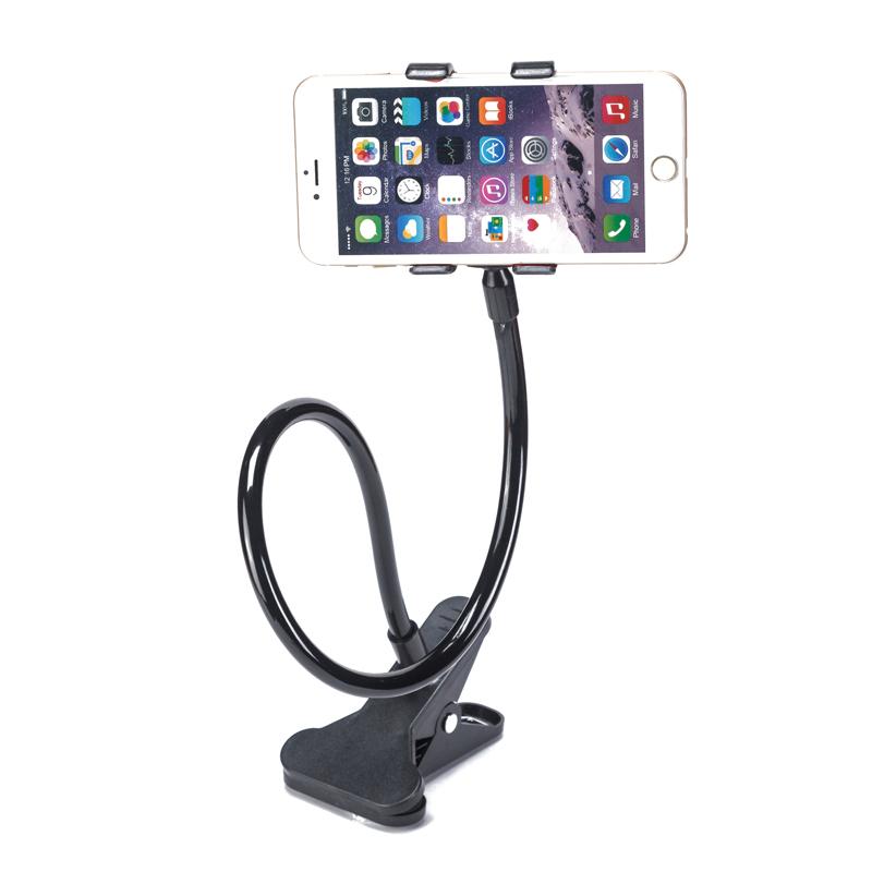 奥瑞朗 懒人手机支架卡扣式床头桌面通用加长手机架直播创意夹子