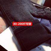 冬天加绒加厚打底裤女外穿长裤大码铅笔裤春秋胖mm小脚女裤弹力裤