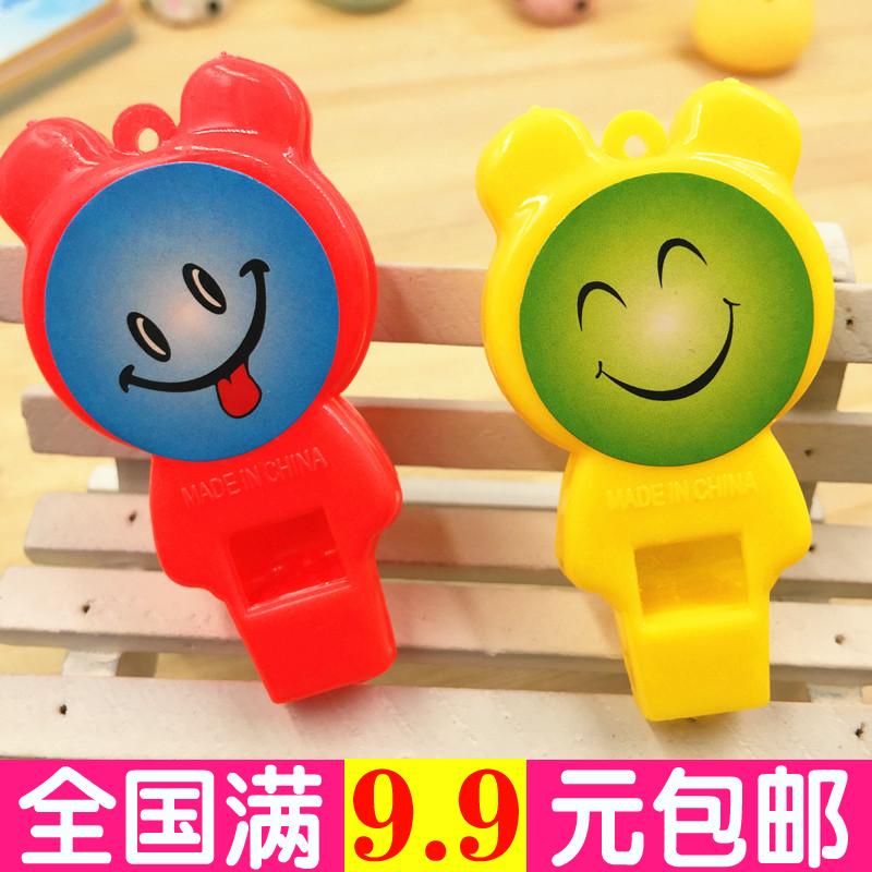 清新可爱糖果色口哨加油哨子儿童塑料裁判哨 小孩玩具礼品运动会