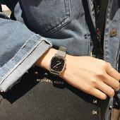 春季2017复古文艺范小方表气质百搭情侣腕表简约金属女表方形手表