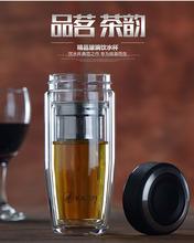 玻璃杯双层带盖钢化茶杯创意透明耐热保温便携随身杯口杯男女水杯