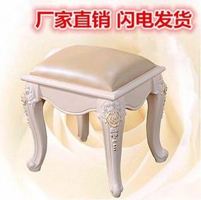 欧式梳妆凳简约布艺白色法式化妆凳换鞋凳美甲凳田