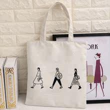 韩国简约字母原创小清新帆布袋男女式文艺环保购物袋单肩帆布包袋