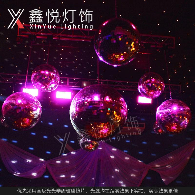 50CM婚庆镜面球反光球反射球舞台玻璃球酒吧灯水晶魔球灯舞台灯光
