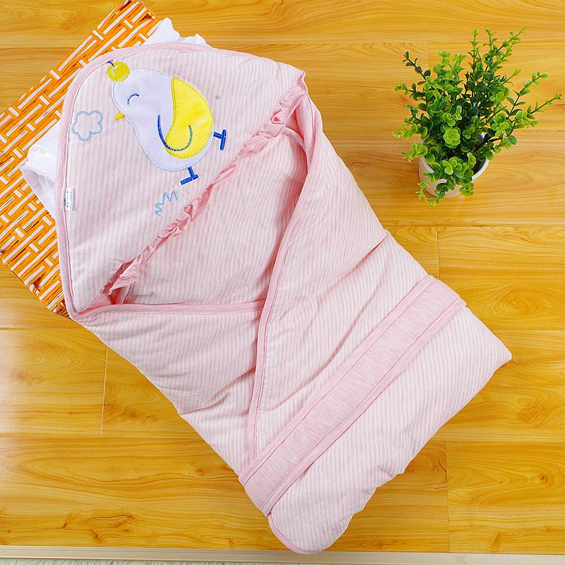 单抱毯包被新生儿春夏薄棉婴儿襁褓抱被夹棉包巾婴幼儿用品
