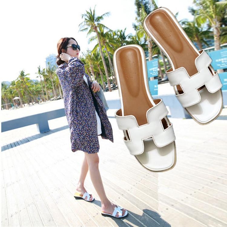 休闲拖鞋旅游时尚凉鞋平底欧美女士