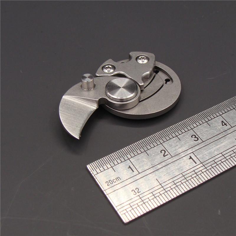 不锈钢创意折叠刀户外迷你刀具硬币刀新奇礼品随身便携钥匙扣小刀