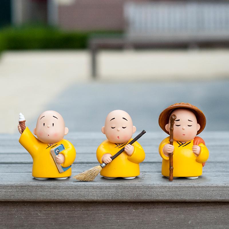 贤二系列树脂公仔动漫人物模型可爱创意礼品手办玩偶小和尚摆件图片