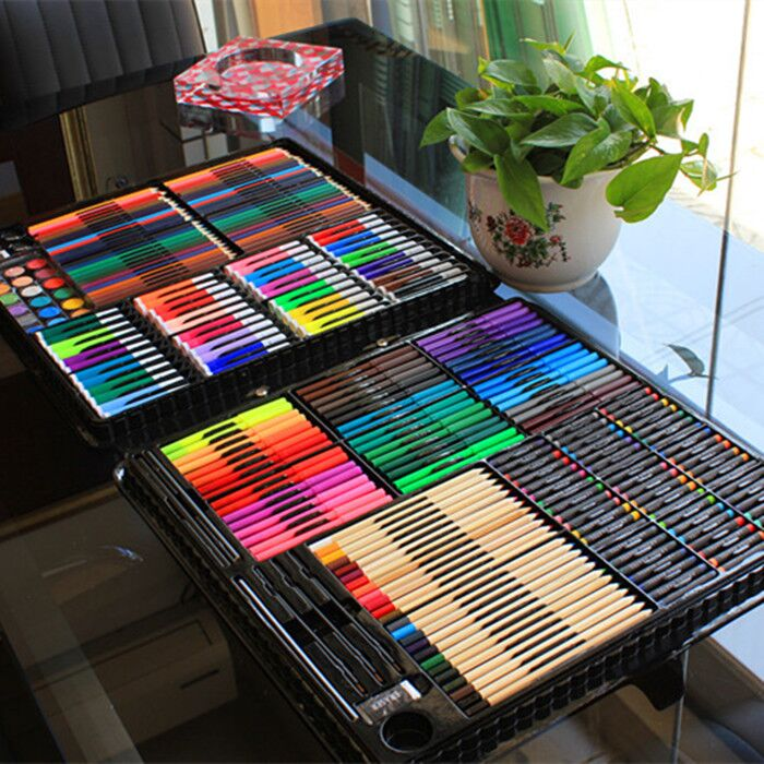 笔绘画套装礼盒小学生画画工具水彩笔美术学习用品文具组合