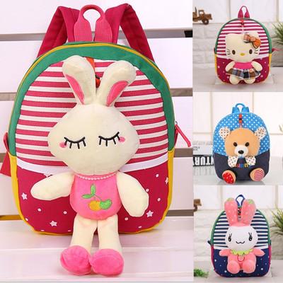 韩版幼儿园双肩包1-2-3岁宝宝小书包可爱背包卡通包男女儿童包邮