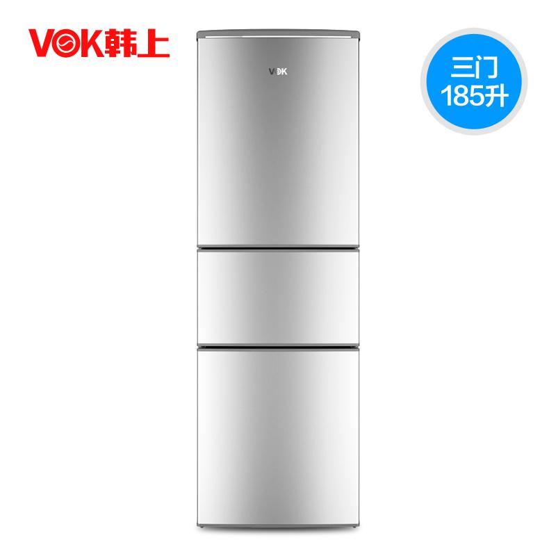 小冰箱三门家用节能小型三开门冰箱小型三门式冰箱 185M BCD 韩上