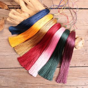 加长款中国结涤纶流苏穗子手工实心剑穗乐器古筝装饰可定做25厘米