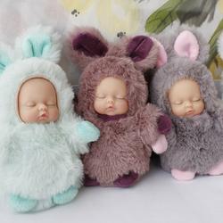 【买二减5元】小熊/兔子睡梦宝宝钥匙扣 睡萌娃娃baby包挂件挂饰