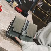 小包包女2017秋季新款韩版百搭链条小方包复古磨砂单肩包斜挎包潮