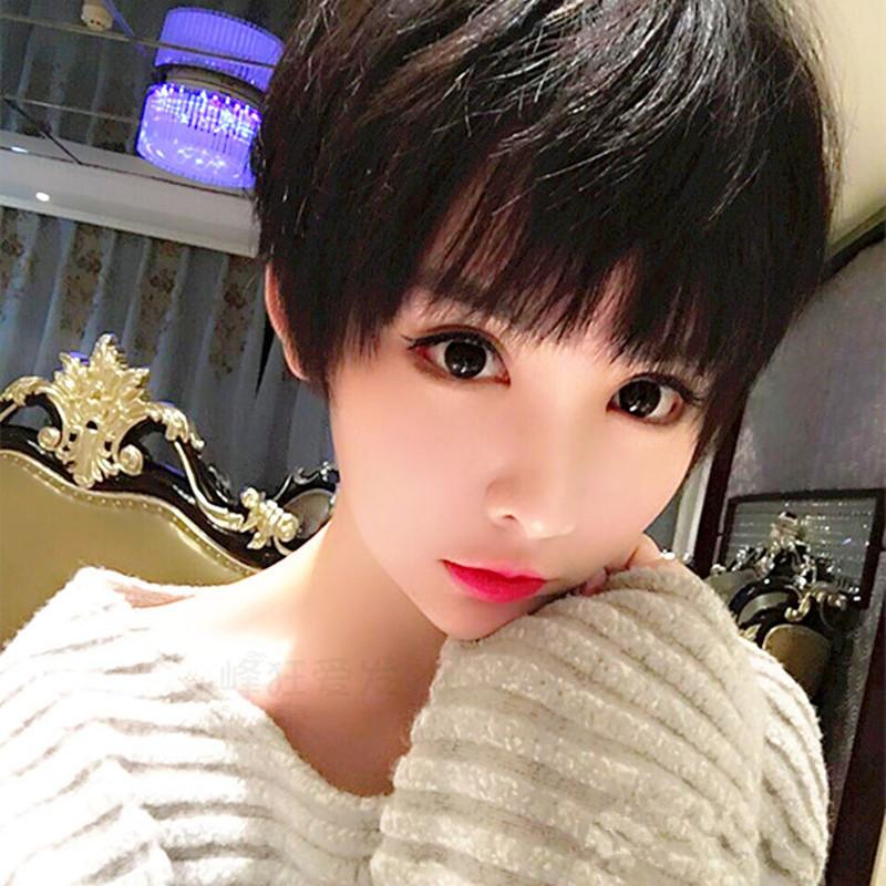 网红气质假发女短发造型bobo帅气齐耳短直发逼真自然韩国学生头套图片