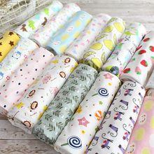 纯棉宝宝布料针织布床品服装面料全棉布婴儿卡通手工包被内衣秋衣