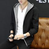 男士外套连帽夹克男青年2017新款潮流韩版帅气修身春秋季薄款上衣