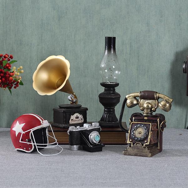仿古摆设小欧式复古摆件文艺服装店艺术品怀旧室内乡村装饰品道具