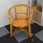 家居椅藤编靠背椅茶楼椅坐椅子 天然印尼真藤椅办公椅电脑椅