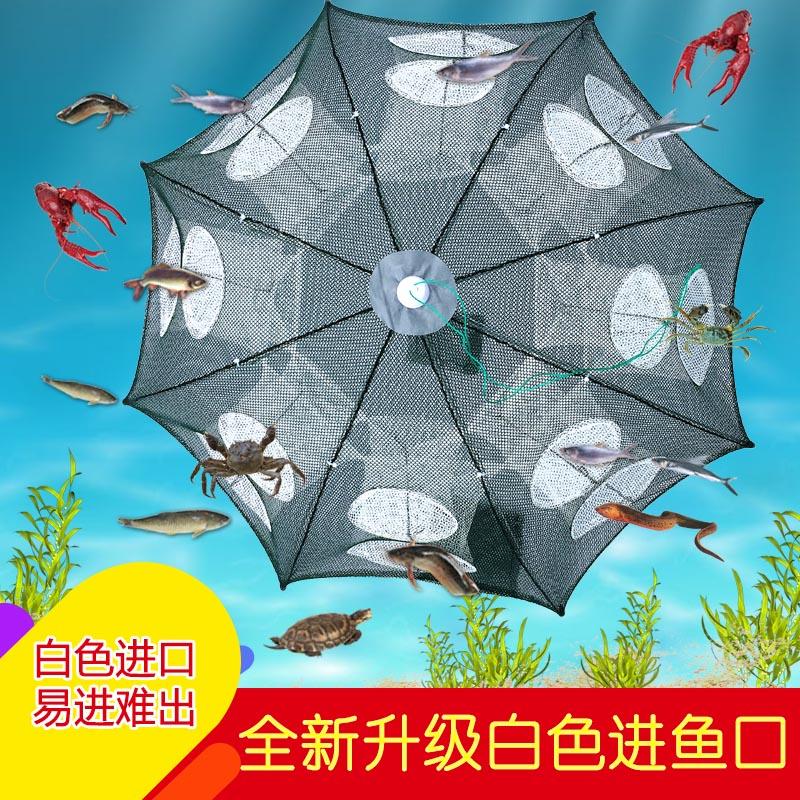 自动折叠鱼笼伞笼鱼补虾网笼虾网笼虾网笼螃蟹网笼黄鳝笼抓神器