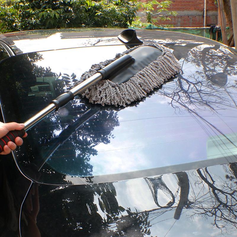 车用伸缩蜡扫 水刷除尘车擦车拖把 洗车蜡刷清洁工具用品