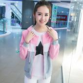16少女装春秋装韩版开衫卫衣女14岁初中学生春季外套上衣15大童12