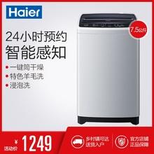 全自动脱水 7.5公斤 静音 波轮洗衣机 Haier 童锁 海尔 EB75M2WH