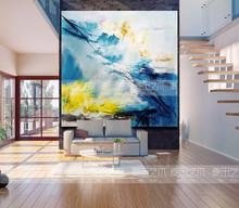 纯手绘大幅现代定制油画抽象玄关背景墙客厅装饰画样板间艺术挂画