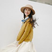 叙旧W3497/闻雀/纯色基础款针织开衫女春 百搭短款针织外套