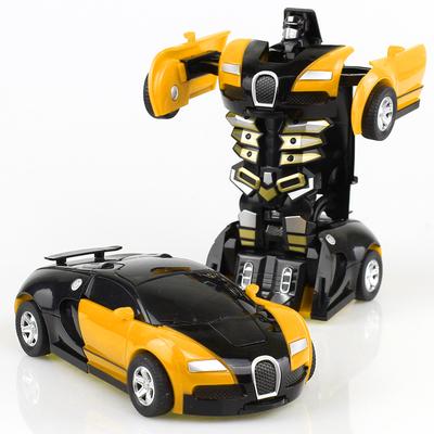 变形玩具金刚5 儿童男孩大黄蜂一键惯性撞击PK汽车机器人非遥控4