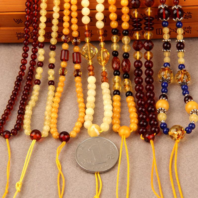 C1186 项链挂绳 50cm 彩虹渐变 蜜蜡 金珀 思华年波兰纯天然琥珀雪珀