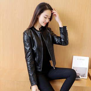 2017春装皮衣女短款女士皮衣加绒加厚冬新款女装外套显瘦个性韩版