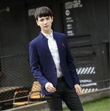 2017秋新款 男士青少年小西服 男韩版修身男式休闲立领小西装外套